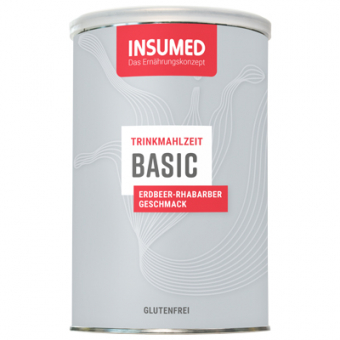 Produktabbildung 400 g Dose BASIC Trinkmahlzeit Erdbeer-Rhabarber