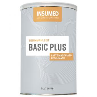 Produktabbildung 400 g Dose BASIC Plus Trinkmahlzeit Latte Macchiato