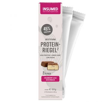 Produktabbildung 2er Pack BESTFORM Protein-Riegel Cranberry-Acai