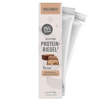 Produktabbildung 2er Pack BESTFORM Protein-Riegel Knusper-Nuss-Vanille